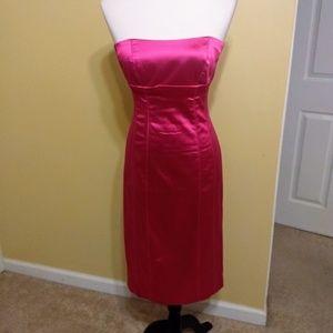 Bebe strapless bodycon dress sz medium
